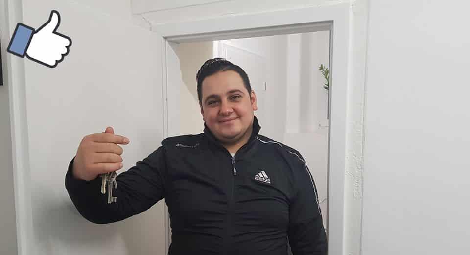 Glückwunsch Nour Aldin für die neue Wohnung